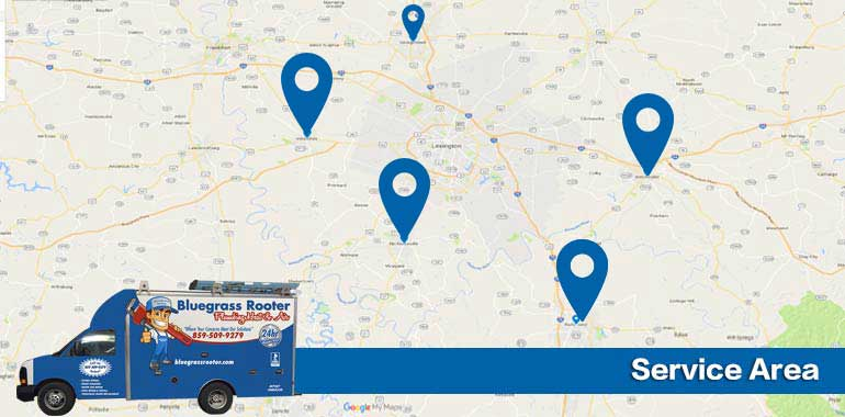 bluegrass rooter plumbing heat & air - service area